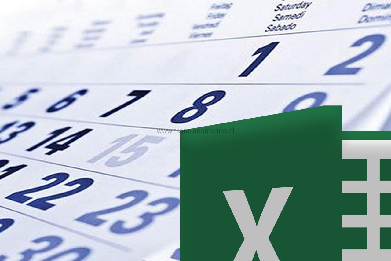 Calendario 2019 en Excel