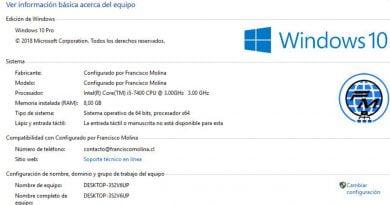 Mostrar tu logo e información en Windows