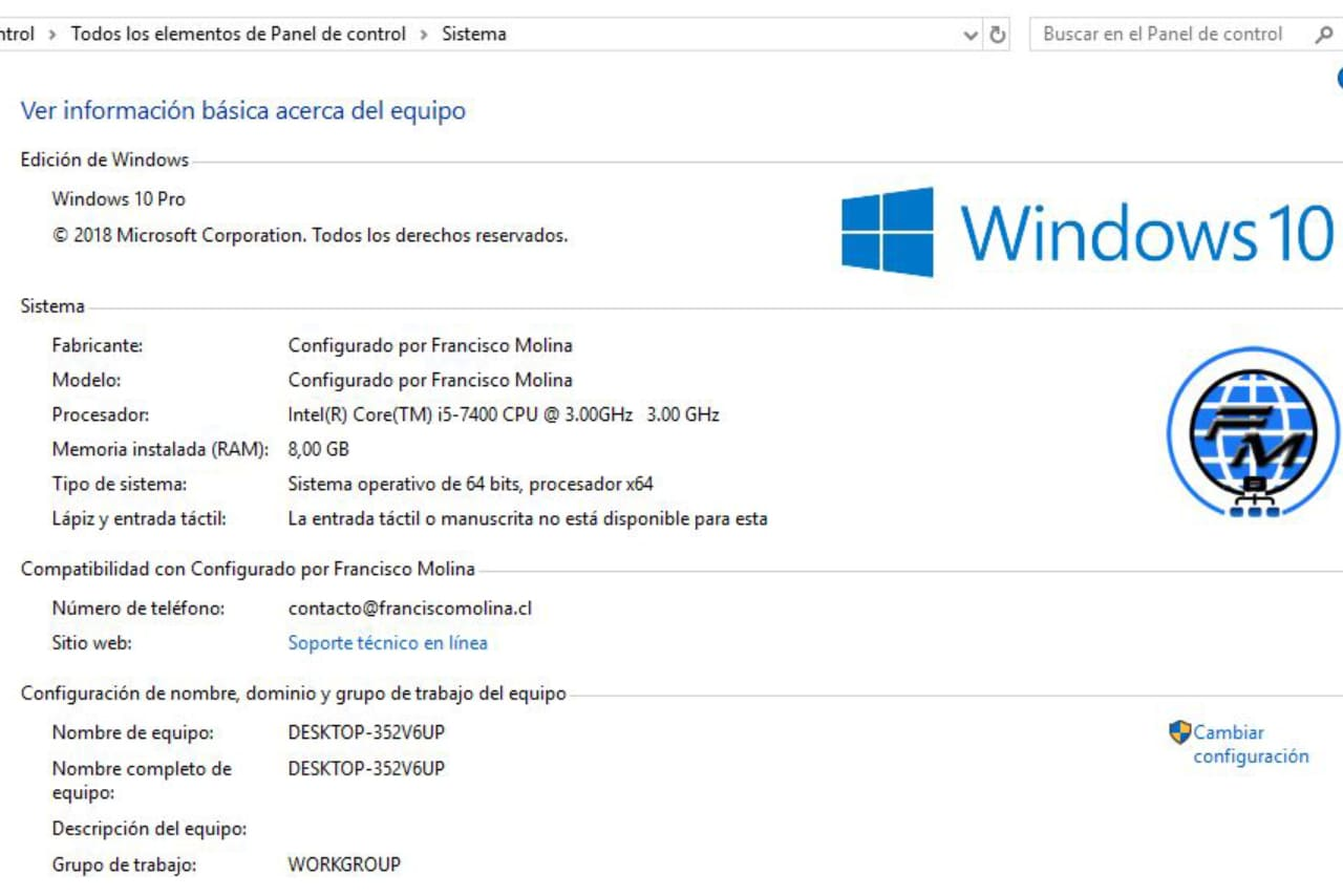Mostrar tu logo e información en Windows