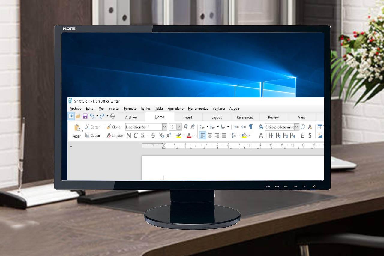 Cambiar la vista de la barra herramientas en LibreOffice