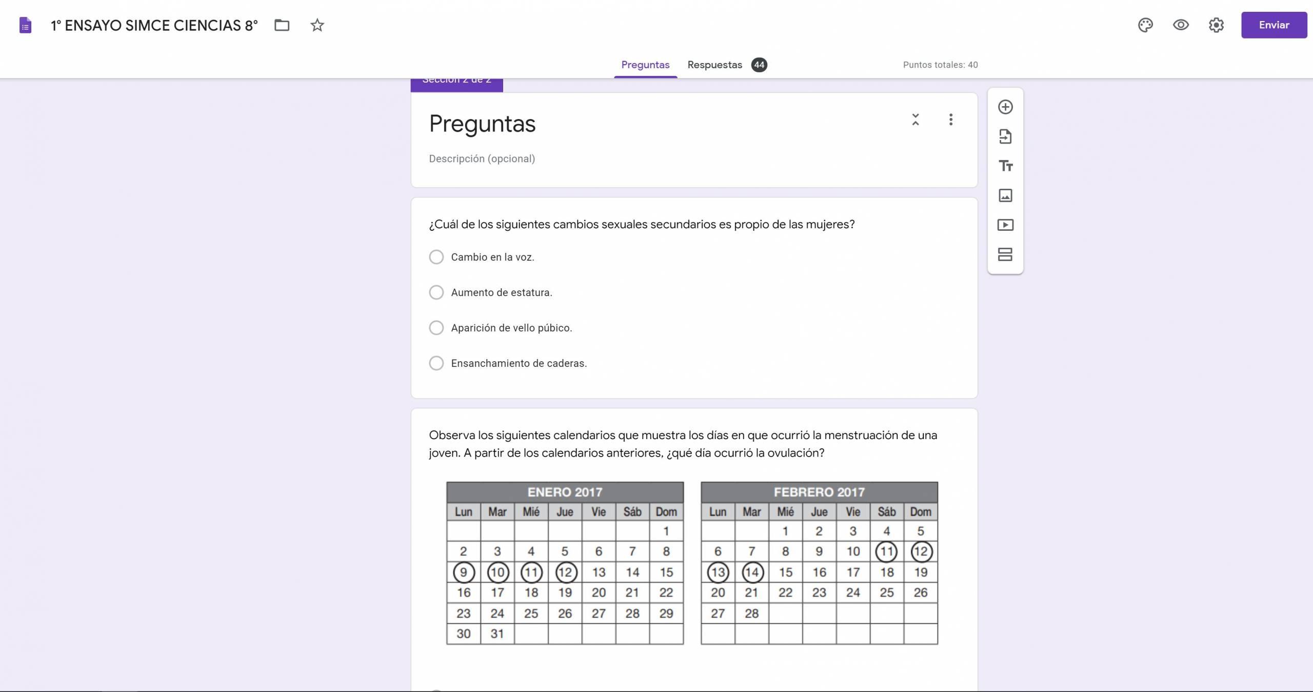 Creando pruebas con puntaje en Google Forms