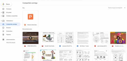 Archivos compartidos Google Drive